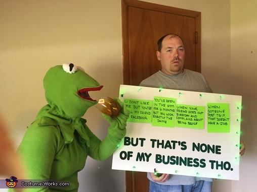 Kermit Meme It's None of My Business Costume