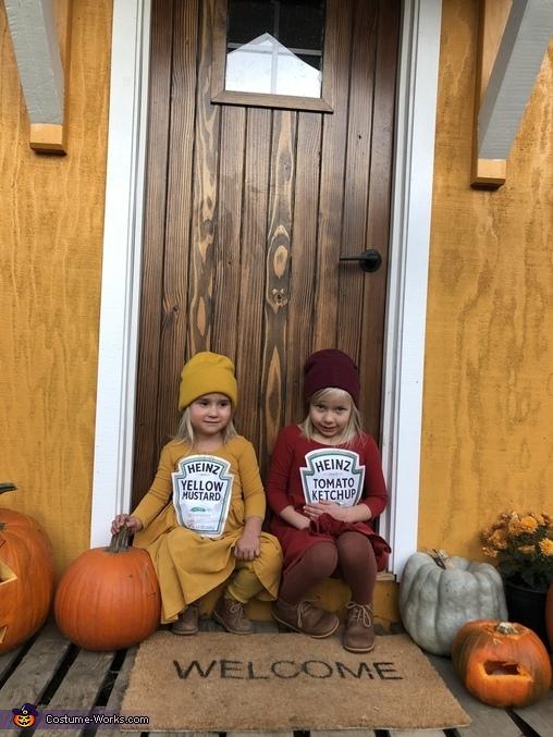 Ketchup and Mustard Homemade Costume