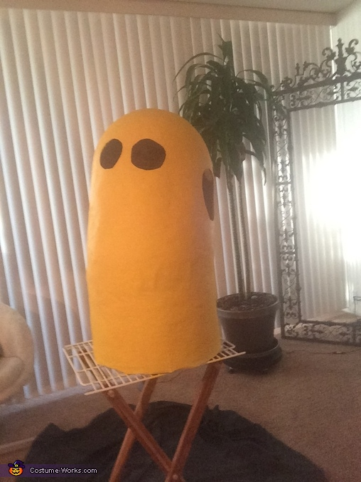 This is how he should look after painting, sanding and cutouts, Kevin the Minion Costume