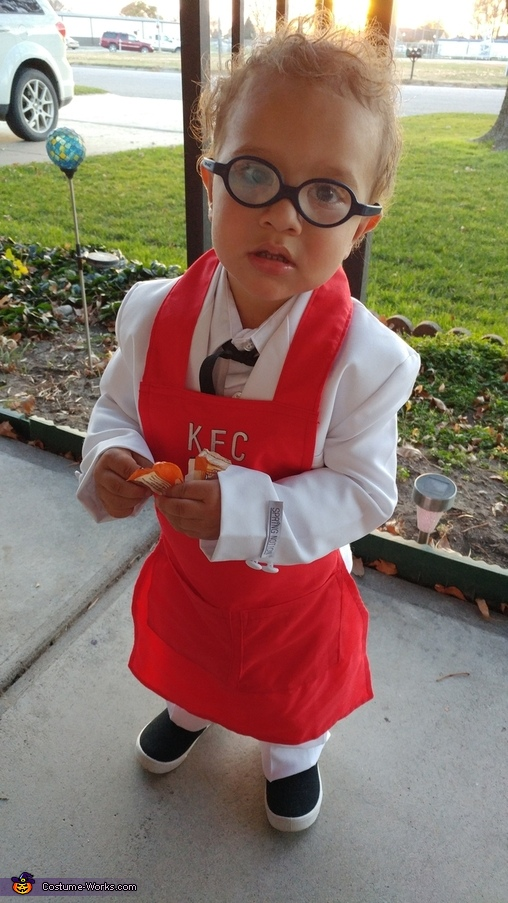 He is starting to get this candy thing figured out! KFC Colonel Sanders, KFC Colonel Sanders Costume