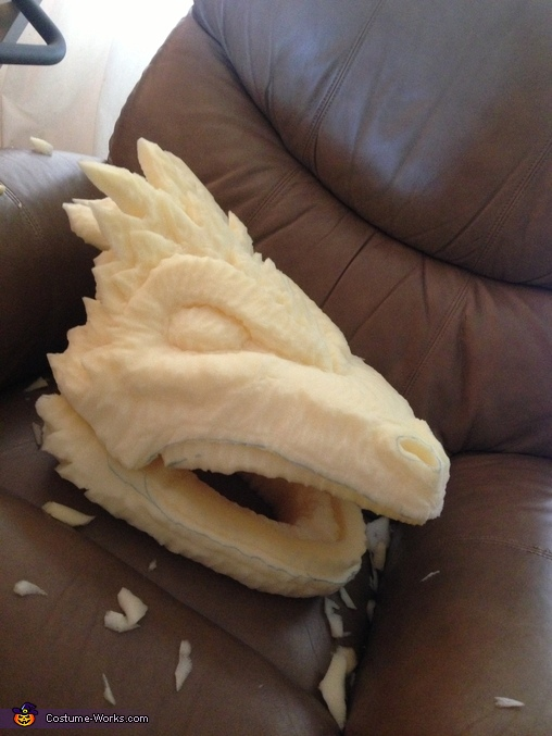 Pre paint, Khaleesi Dragon Costume