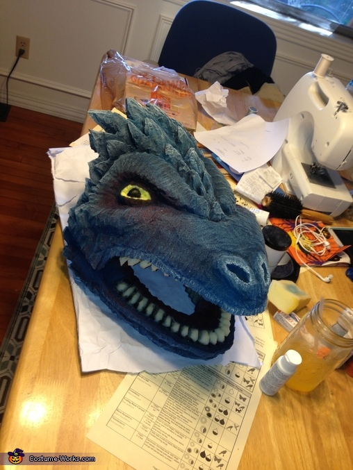 Complete mask, Khaleesi Dragon Costume