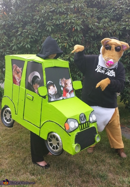 Me and car, Kia Hamsters Costume