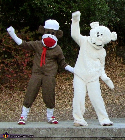 Closer look: Teddy Bear and Sock Monkey, Kia Super Bowl Characters Costume