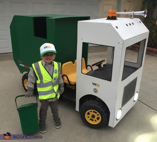 Kid Garbage Truck Driver Costume