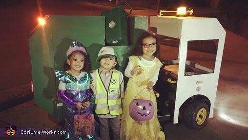 Kid Garbage Truck Driver Homemade Costume