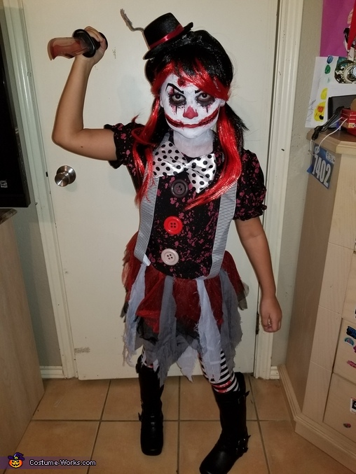 Killer Clown Halloween Costumes For Girls.Killer Clown Costume