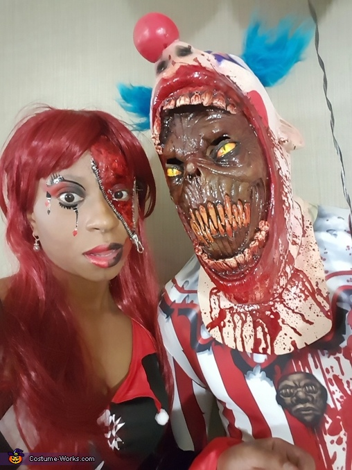 Killer Clown and Ms. Harlequin Costume