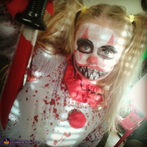Killer Clown Halloween Costumes For Girls.Killer Clown Girl S Halloween Costume Photo 2 2