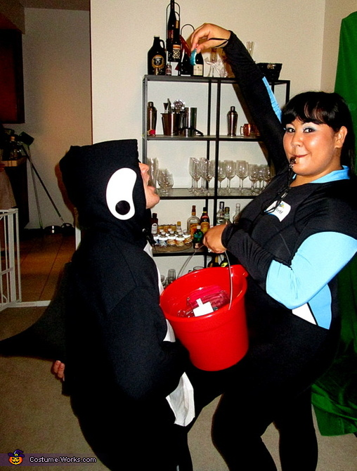 Killer Whale and his Trainer Costume