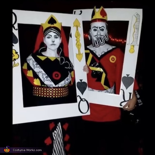 King & Queen of Spades Costume
