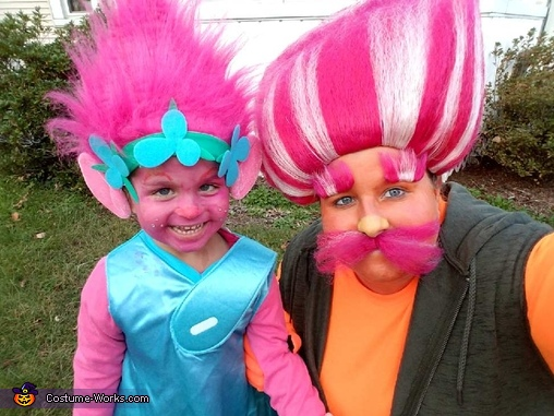 King Peppy and Princess Poppy Trolls Costume
