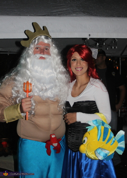King Triton and the Little Mermaid Couple Costume