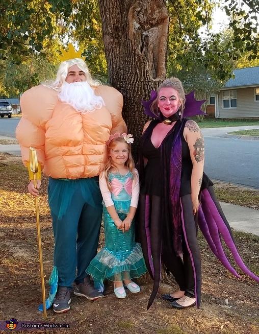 King Triton, Ursula and Little Mermaid Costume