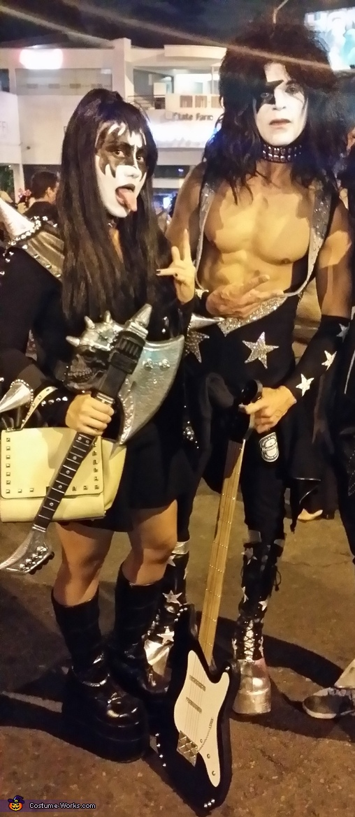 KISS at west hollywood carnival, KISS Couple Costume