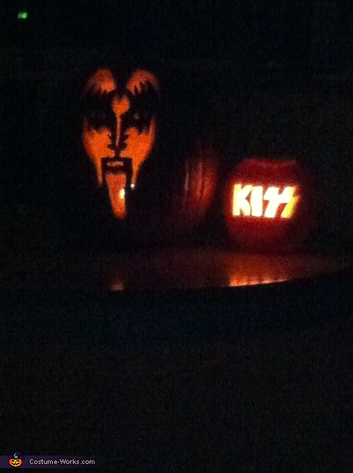 Our familly jack o lantern, Kiss Family Costume