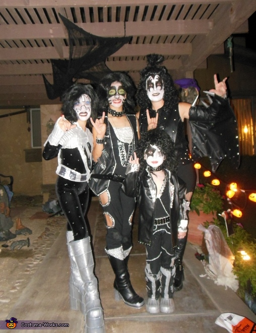 KISS Rock Band Family Costume