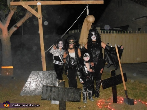KISS enjoying a little after hour party!, KISS Rock Band Family Costume