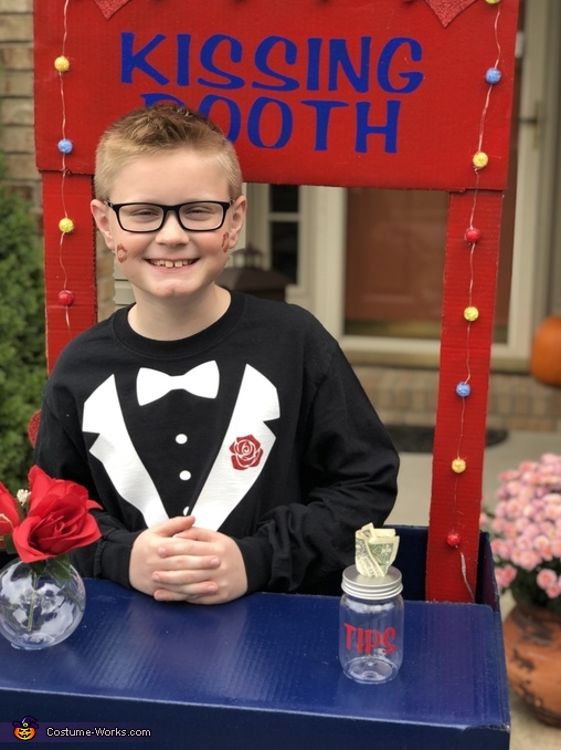 Flowers and Tip Jar Kissing Booth, Kissing Booth Costume