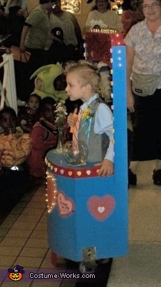 Side view of Costume, Kissing Booth Costume