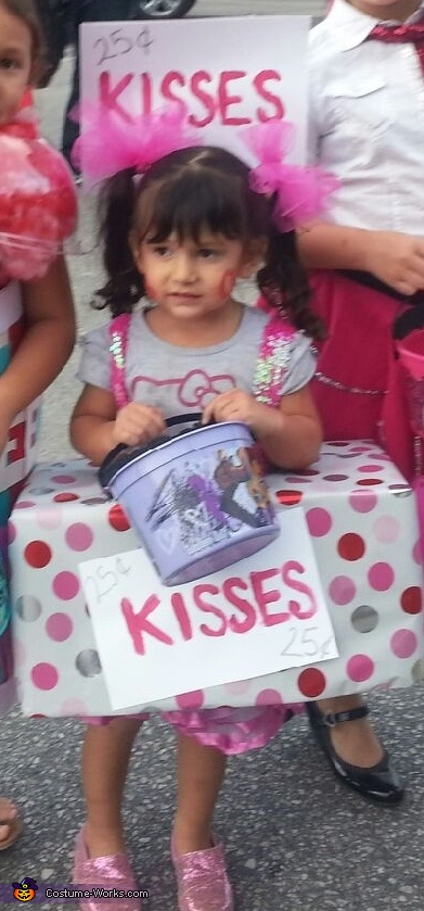 Homemade Kissing Booth Costume