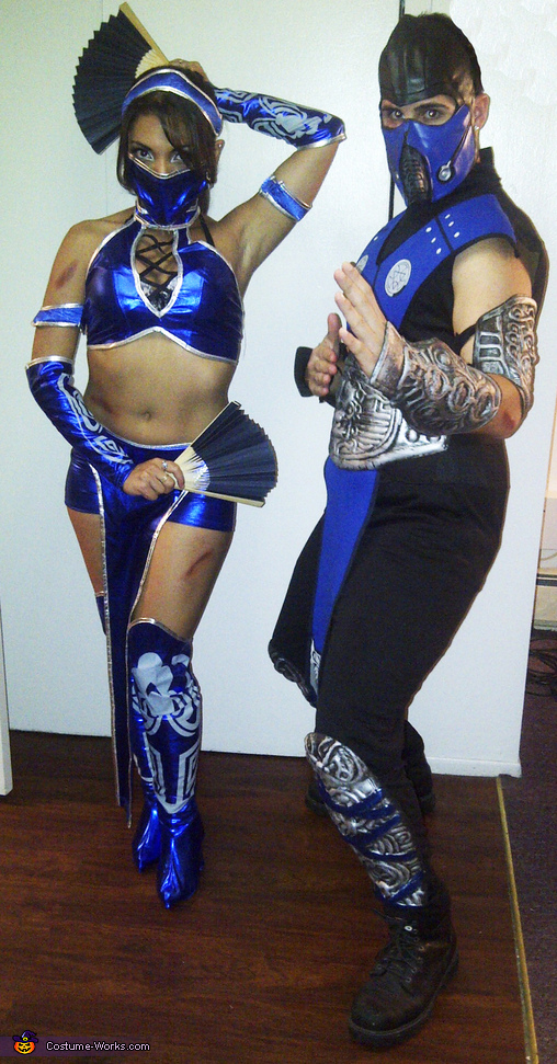 Kitana and Sub-Zero from Mortal Kombat Costume