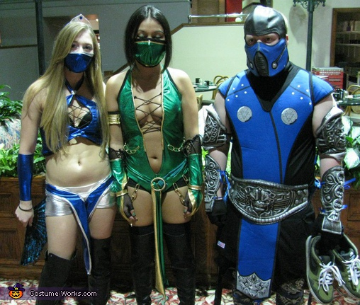 Kitana Jade u0026 Subzero Mortal Kombat Game Characters Costume & Mortal Kombat Game Characters - creative costumes - Photo 2/8