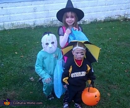 Steeler guy, the Micheal Myers and The Good Witch, Steelers Boy Costume
