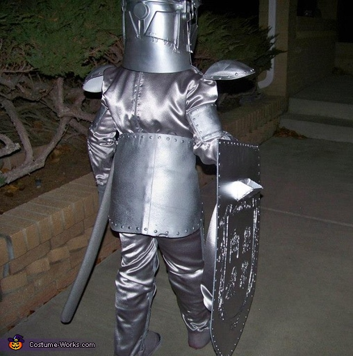 back view (this thing is highly reflective, yay for safety), Knight in Shining Armor Costume