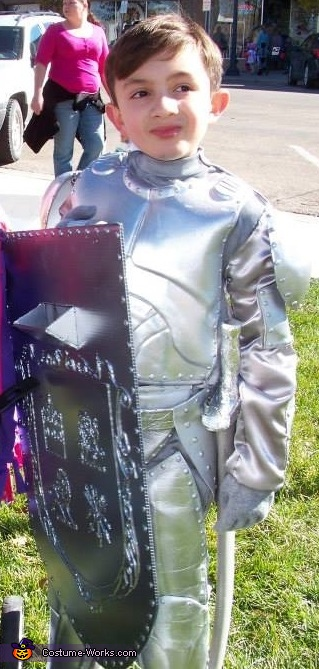 My Knight in Shining Armor! It works without the helmet too., Knight in Shining Armor Costume