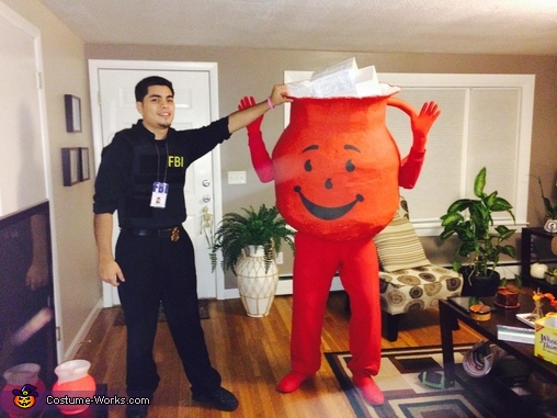 Kool aid got caught before busting through the wall, Kool Aid Man Costume