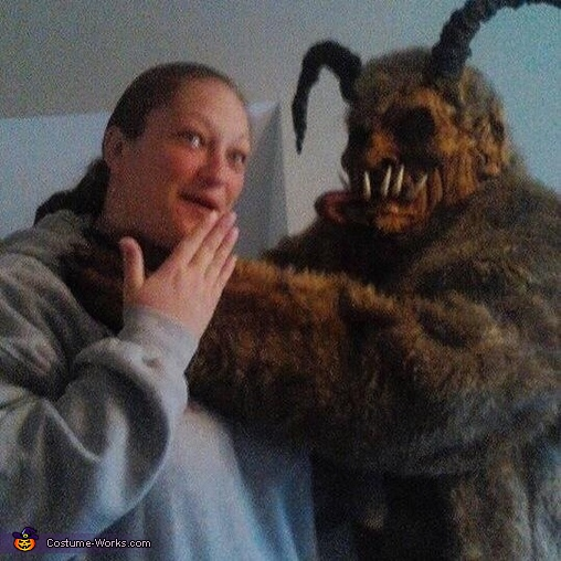 My wife and I , Krampus Costume