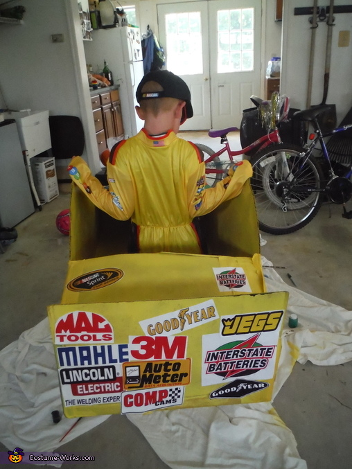 kyle busch 18 back side kyle busch junior costume