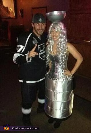 Alec Martinez and Stanley Cup, LA Kings player with Stanley Cup Costume