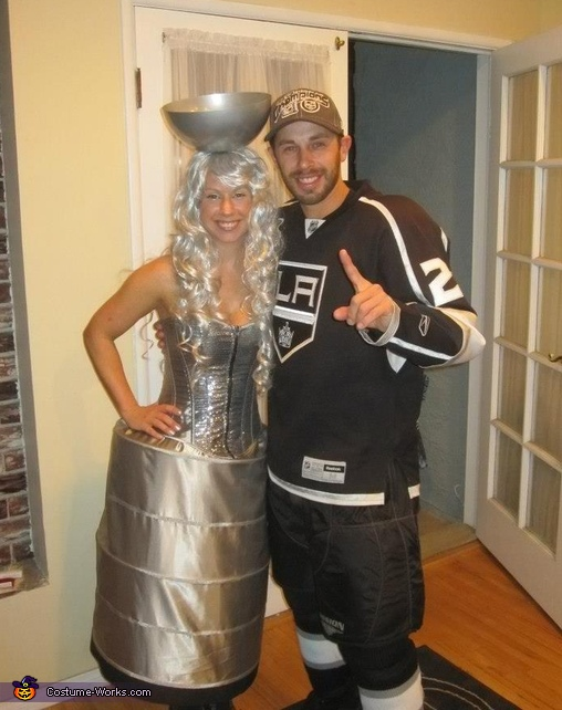 LA Kings player with Stanley Cup Costume