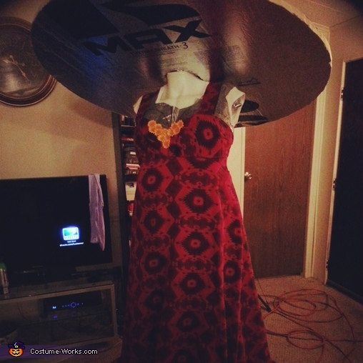 Progress photo, what it will sort of look like. , La Muerte Costume
