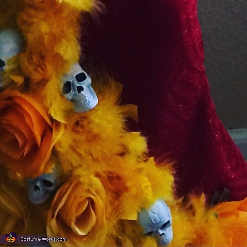 close up of the bottom of her dress, La Muerte Costume