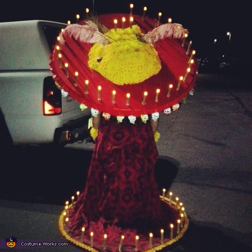 The hat and dress at night. , La Muerte Costume