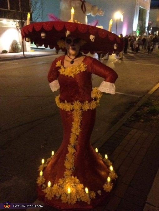 "All lit up, La Muerte from ""The Book of Life"" Costume"