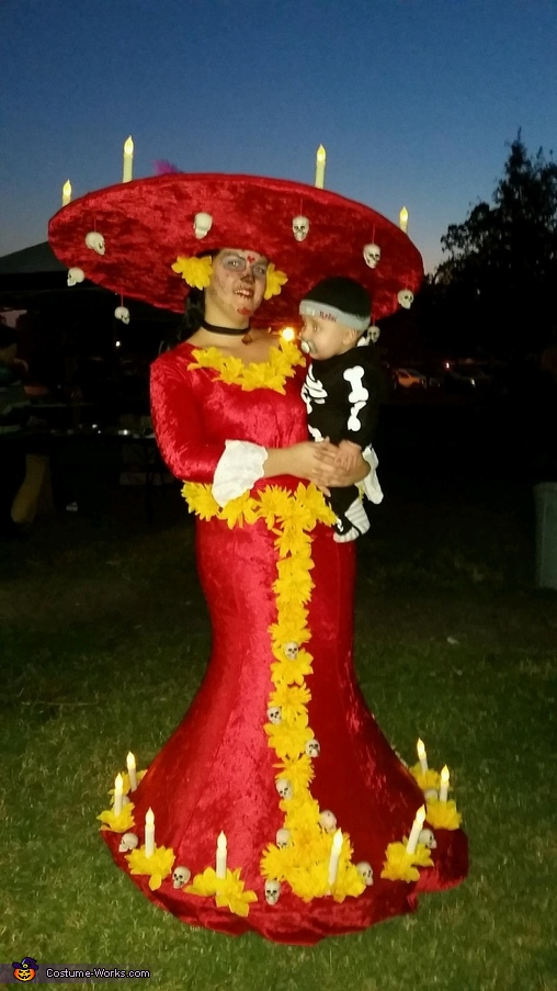 "Me and my baby bag of bones, La Muerte from ""The Book of Life"" Costume"