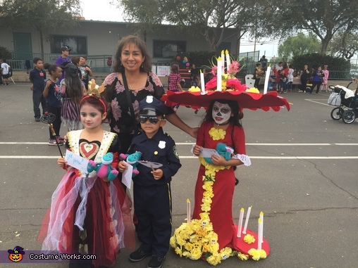 "She was a finalist for more creative., La Muerte from ""The Book of Life"" Costume"