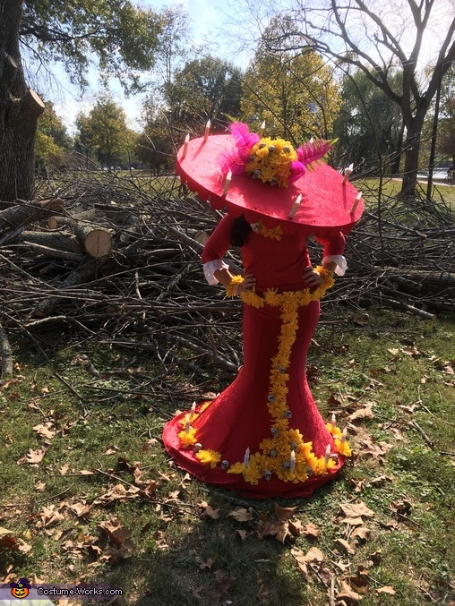 "Hat tipped in front of a tangled pile of sticks, La Muerte from ""The Book of Life"" Costume"