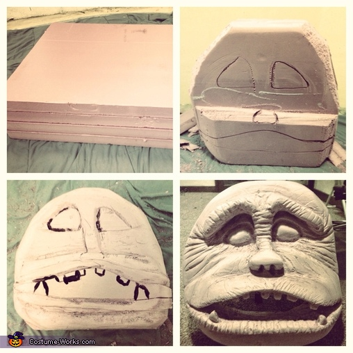 Ludo mask progress, Labyrinth Family Costume