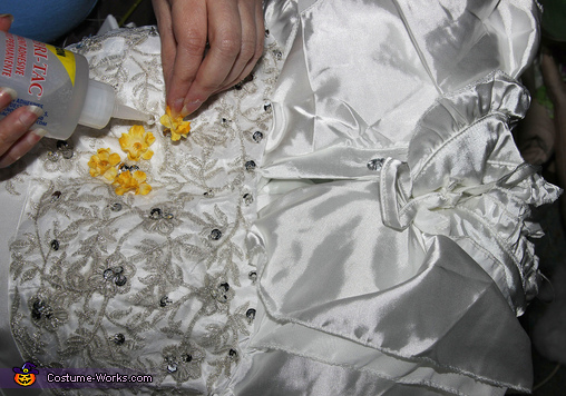 Putting Flowers on Sarah's Dress, Labyrinth: Jareth the Goblin King and Baby Toby Costume
