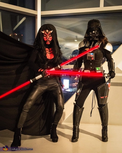 Lady Darth Vader and Darth Maul Costume