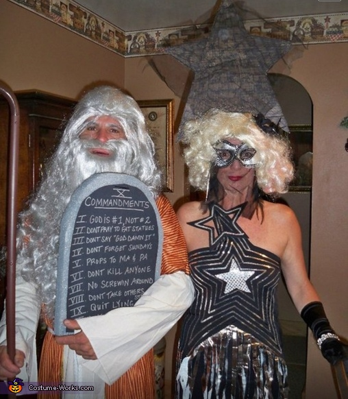 Lady Gaga and Moses Costume