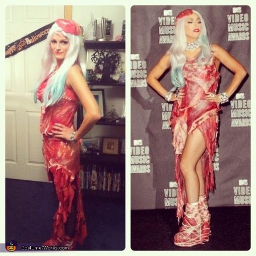Twins , Lady Gaga Meat Dress Costume