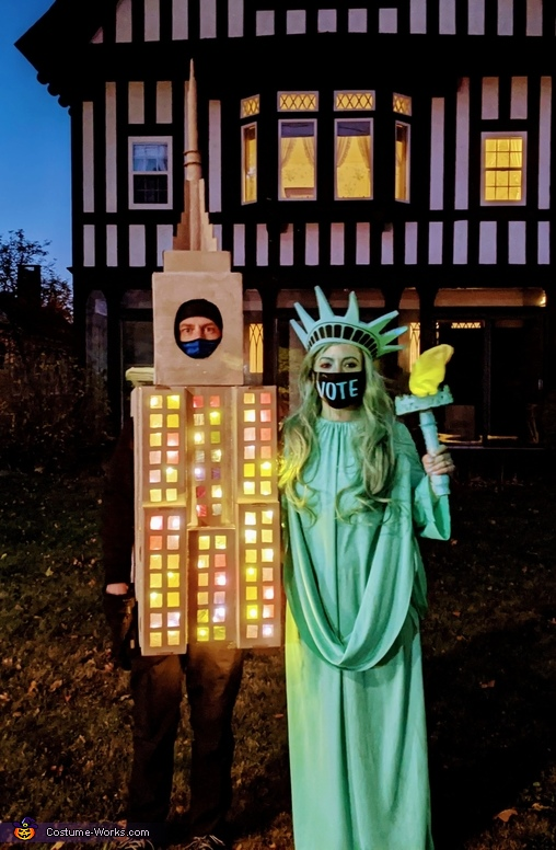 Lady Liberty and the Empire State Building Costume