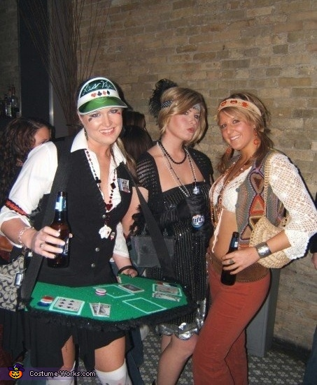 Best friends in disguise , Lady Luck Poker Dealer Costume