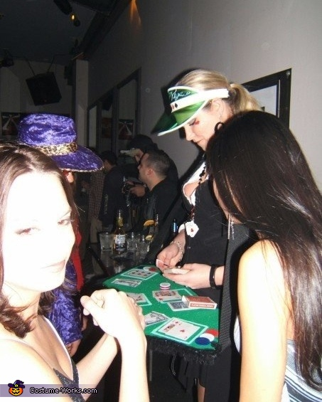 Care to challenge Lady Luck?, Lady Luck Poker Dealer Costume